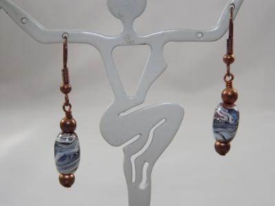 E-39 Lampwork Bead Earrings