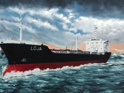 """Ecuadorian oil carrier """"Loja"""", 120cm x 60cm, 2013"""