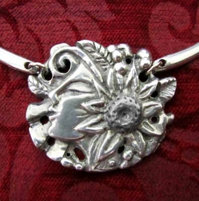 Flower Girl necklace choker Art Nouveau fantasy style necklace