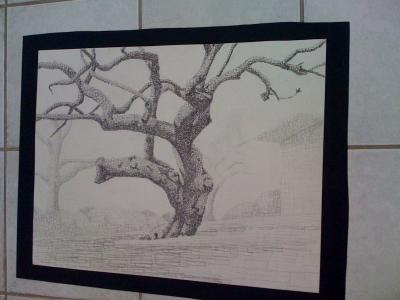 Intermediate Drawing at UCSD,  Landscape with Squares (Pencil)