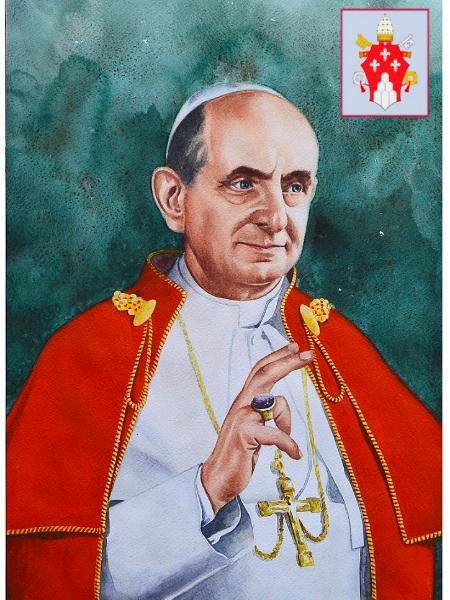portrait of pope paul vi 80cm x 60cm 2015 mvn the art of mauri