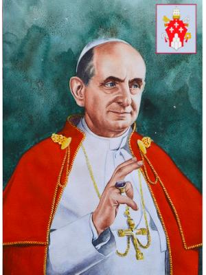 Portrait of Pope PAUL VI, 80cm x 60cm, 2015