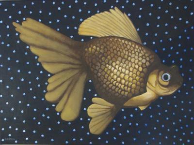 "Lion Goldfish   18"" x 24"""