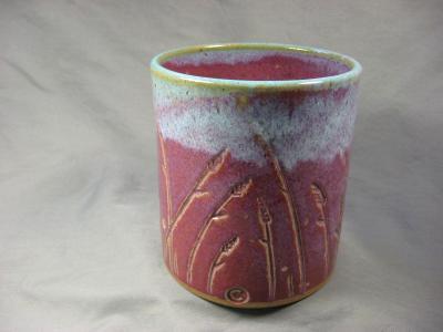 110602.F Utensil Crock with Wheat Design