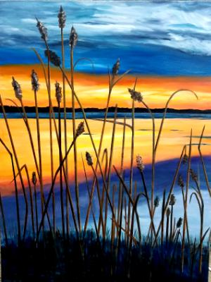 Sunset with Reeds