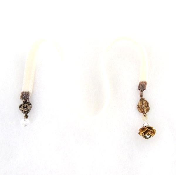 steampunk velvet bookmark brass rose
