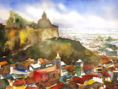 Everlasting Tbilisi - Georgia, 38cm x 56cm (WATERCOLOR DEMONSTRATION)