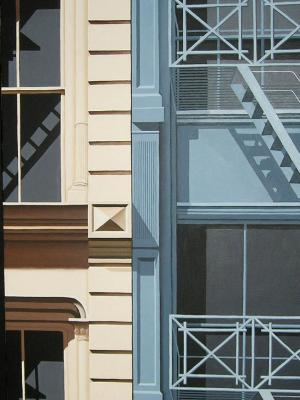 """Blue & Tan- Greene St      18"""" x 36"""""""