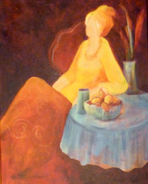 "Afternoon Tea ~ Inspired by Itzhak Tarkay ~ 16"" x 20"""