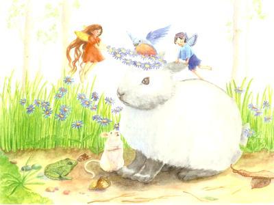 fairies crowning bunny