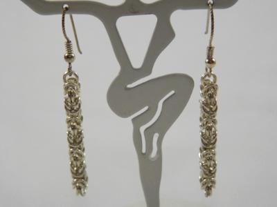 E-66 Sterling Silver Chain Earrings