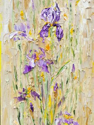 Purple iris 1 (sold)
