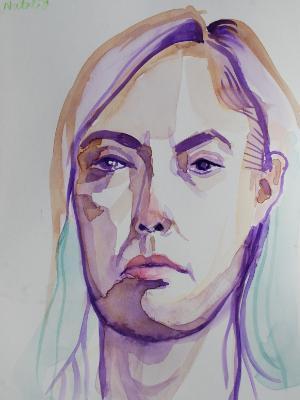 Natalia Watercolor Head 1
