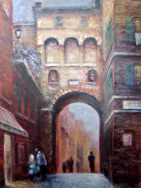Old City Gate in Siena