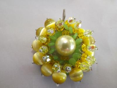 Yellow Floral Pendant