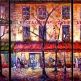 Nighttime in Montmartre - Triptych - SOLD