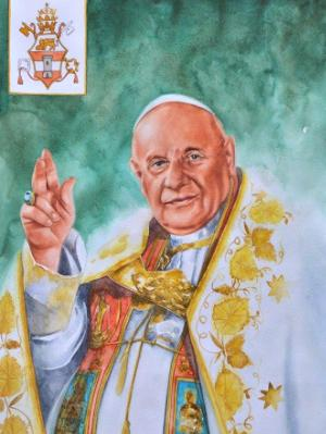 Portrait of Pope JOHN XXIII, 80cm x 60cm, 2015