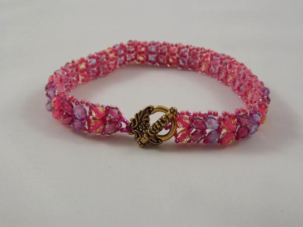 B-5 pink & lavender chevron bracelet