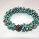 B-38 turquoise Picasso spikey bracelet