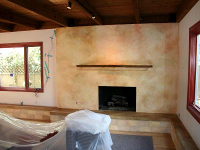 After Refinishing with Plaster (previously brick)