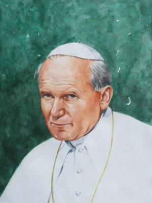 Portrait of Pope JOHN PAUL II, 80cm x 60cm, 2015