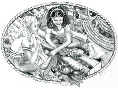 Illustration for WCEU-TV & News Journal's Florida Quest booklet
