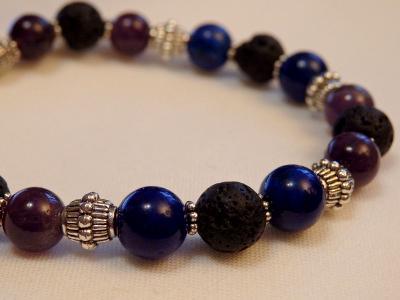 Lava & Gemstone Aromatherapy Bracelet