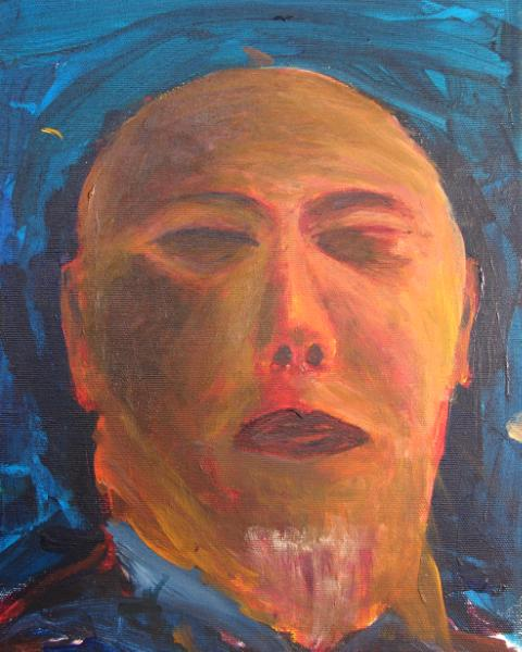 Self-portrait #1 - man with no eyes