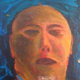 Self-portrait #1 - man with no eyes