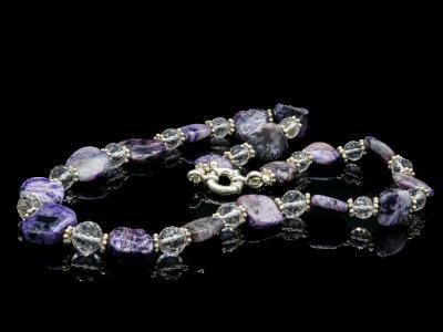 Charoite and Quartz Necklace