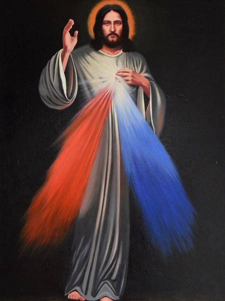 oil portrait of the lord of the divine mercy 150cm x 100cm 2018