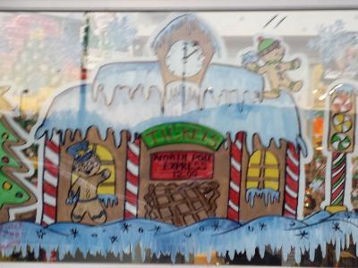 Ginger bread train station