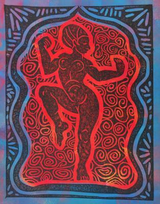Temple Dancer (Red/Blue)