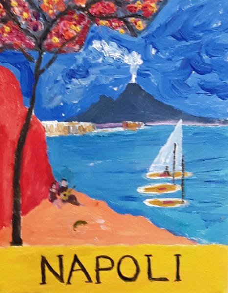 Naples Travel Poster