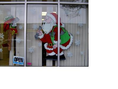 Newspaper Santa