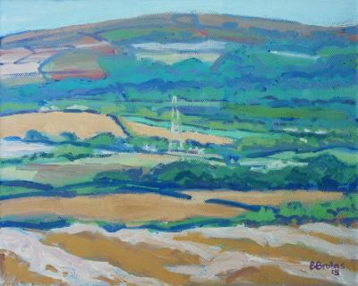 Rural landscape with Codden Hill