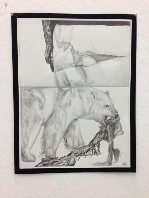 Beginning Drawing at UCSD, Diptych (Charcoal)