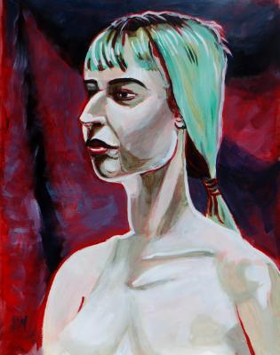 Emily at Dogtown (Green Hair)