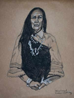 """Copy of D. Haaland """"Indian Clothing"""""""