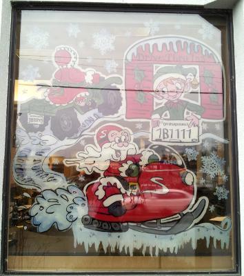Snowmobile Santa