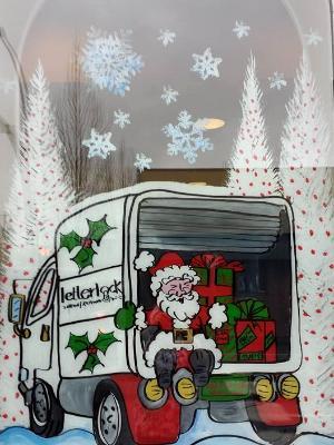 Delivery truck Santa