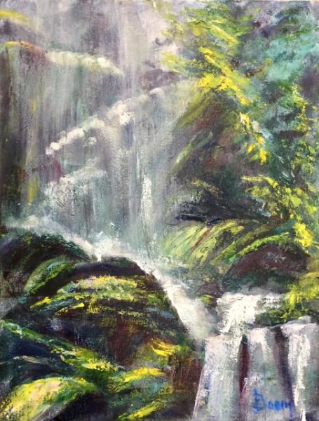 Rainforest Falls in North Carolina