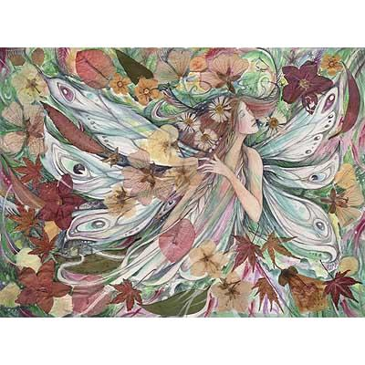 Flora Fairy Flower Goddess Art Print from an original painting