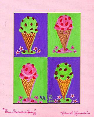 Four Icecream Cones