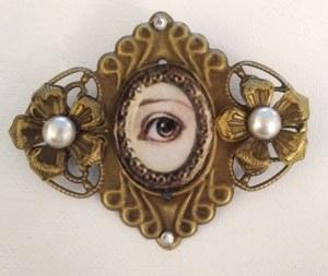 Antique gold Victorian Sweetheart brooch