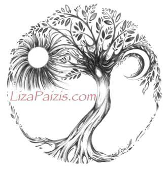 Tree of Life art drawing