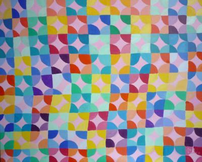 Erratic pattern in pastels