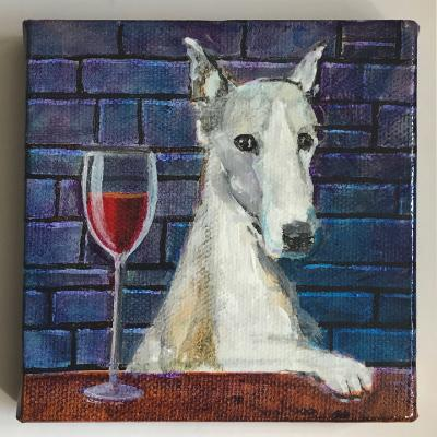 WINE-TASTING DOG