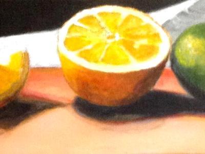 Acrylic lemons