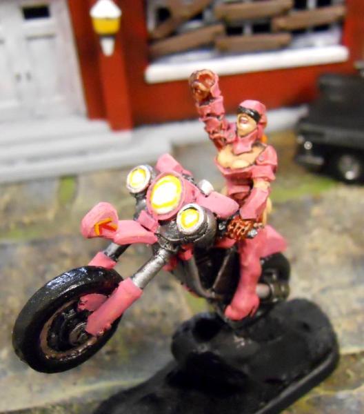"The ""Pink"" Biker"